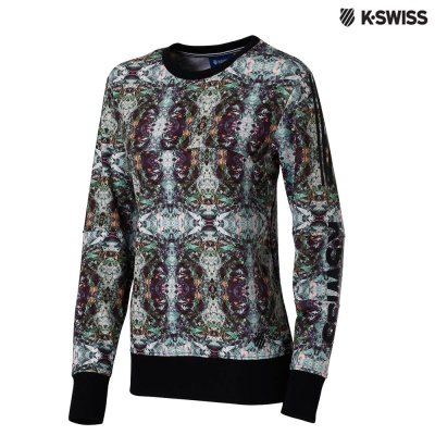 K-Swiss Sweatshirt圓領長袖上衣-女-印花