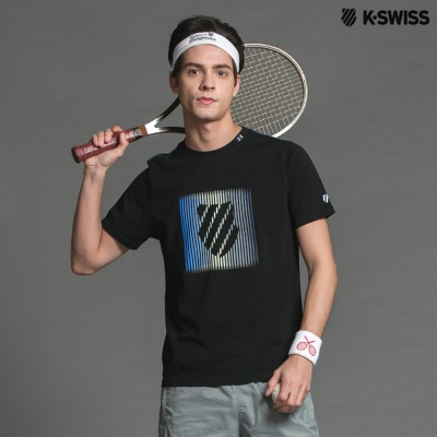 K-Swiss Shield Graphic Tee印花短袖T恤-男-黑