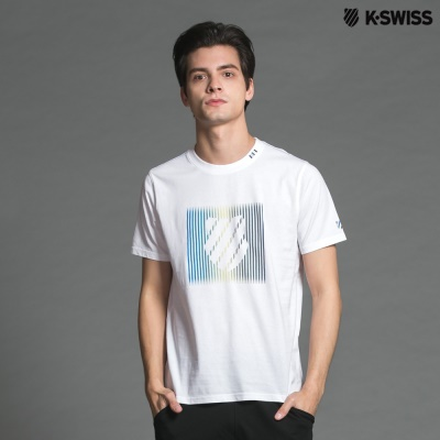K-Swiss Shield Graphic Tee印花短袖T恤-男-白