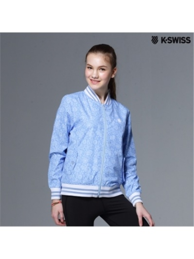 K-Swiss Allover Print Windbreaker風衣外套-女
