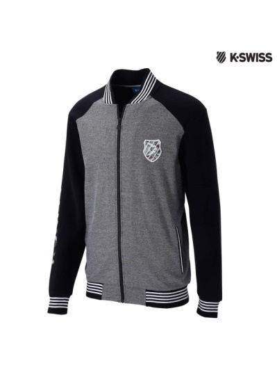 K-Swiss Jacquard Jacket休閒外套-男-黑